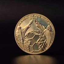 Moneda Onza Mundial 2014 Brasil Baño De Oro 24k De Coleccion