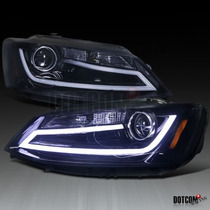 Faros Projector + Led Vw Jetta Mk6 2011-2014 Nuevos