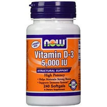 Now Foods Vitamina D3 5000 Iu 240 Cápsulas