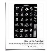 Placa Estampado Uñas Disco Mickey Hello Kitty Mod 12 #337