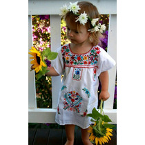 Vestidos Bordados Oaxaqueño Para Nena