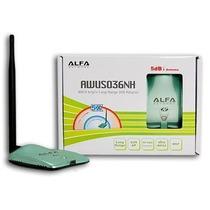 Antena Wifi Alfa Network 2000mw Usb Inalambrica Con Beini
