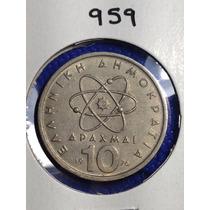 959- Moneda De 10 Dracmas De 1976, Grecia