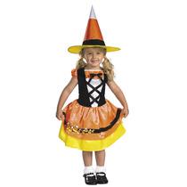 Disfraz Talla 3 Años Vestido Bruja Brujita Niña