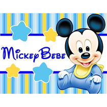 Kit Imprimible Mickey Minnie Bebe Disney Candy Bar Tarjet #1