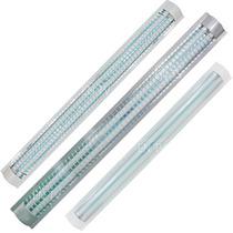 Luminario T8 Plano 2 Lamparas Fluorescentes Rejilla Acrilico