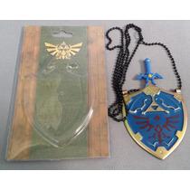 Espada Dije De Zelda Metalico Collar De Coleccion Dagas
