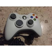 Control Xbox 360 Original Microsoft Inalámbrico Con Cargador