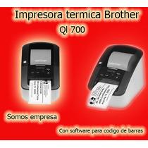 Impresora Etiquetas Brother Termica Codigo De Barras Ql700