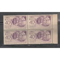 No.122-block De 4 Boveda Seguro Postal 40 Cent Violeta