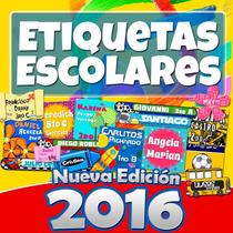 Etiquetas Escolares Kit 2016 + 7 Mil Imagenes 5 Gb Pago Oxxo