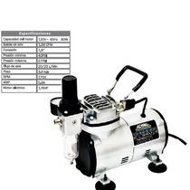 Mini Compresor De Aire Para Pincel Y Aerografos 1/8hp Adir
