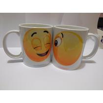 Tazas Emoticon Beso Por Ambas Personalizada 14 De Febrero