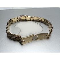 Esclava De Oro Tejido Cartier De Oro Maciso De 14 Kilates