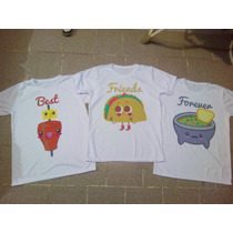 Playeras Y Blusas Best Friends Forever Amigos Iguales Bff