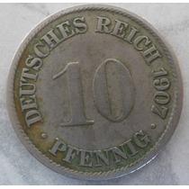 Moneda Alemana 1907,colección Antigua- 10 Pfenning Reich