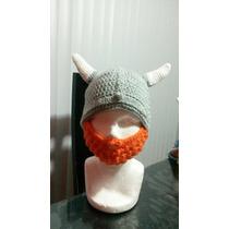 Gorro A Crochet Vikingo Niño