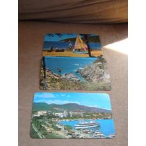 3 Antiguas Postales De Acapulco