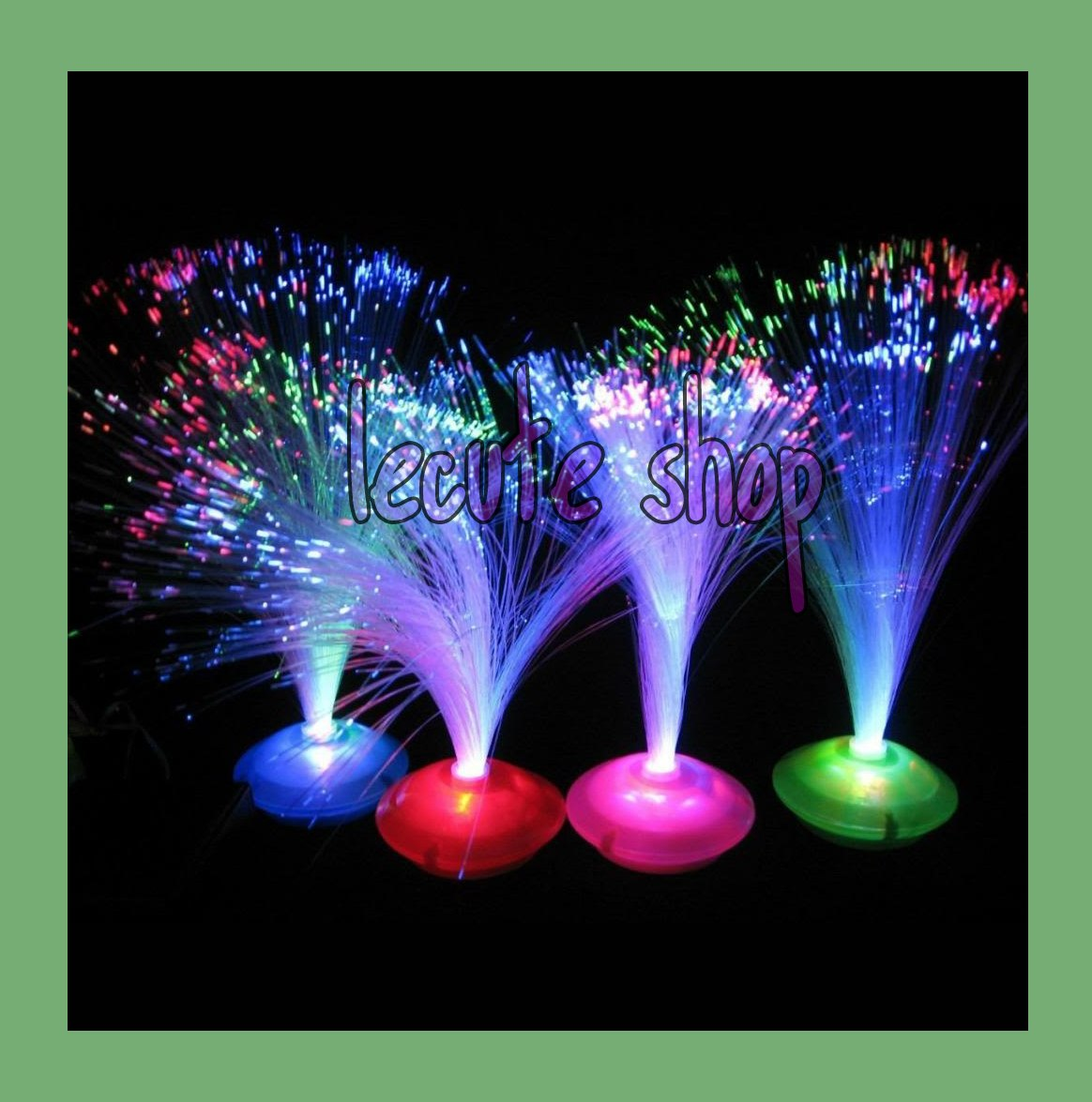 5 centros de mesa fibra optica decoracion adorno arreglos - Adornos para mesa de centro ...