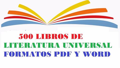 libros literatura universal: