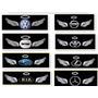 Sticker 3d Angel Volkswagen, Bmw, Toyota, Hiunday, Mazda