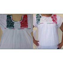 Blusas Mexicanas Tricolores Para Las Fiestas Patrias