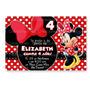 Invitaciones Minnie Mouse Mimi Disney Kit Imprimible Fiesta