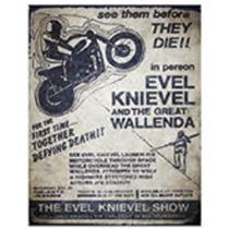 Anuncio Poster Lamina Metalico Vintage Evel Knievel 0112