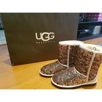 Botas Ugg Australia Con Lentejuelas Doradas Original