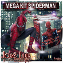 Spiderman Hombre Araña Invitaciones Kit Imprimible Jose Luis
