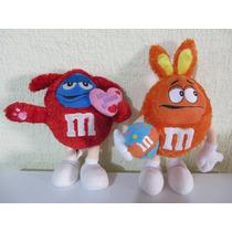 Peluche Chocolates M&m Azul Y Naranja 24cm