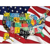 Rompecabezas Springbok 400 Piezas Placas De Estados Unidos
