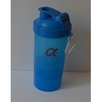 Shaker Batidor Proteina Gym Alpha Nutrition Vaso Mezclador