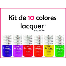 Kit Lacquer Evolution 10 Colores 8 Ml ( Gel Gelish Esmalte )