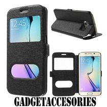 Smart Case Funda Flip Samsung Galaxy S6 Edge Anticaidas