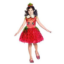 Disfraz Shopkins Strawberry Classic Costume Pequeño / 4-6 Un