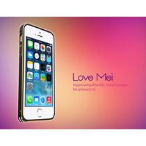 Bumper Love Mei Buckle Bicolor Aluminio Iphone 5g 5s Negro