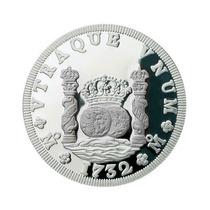 Medalla 1/2 Onza Plata Pura, Modelo Tipo Moneda Columnaria