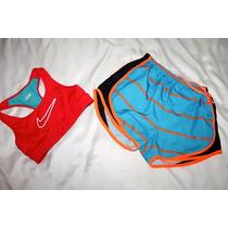 Nike Pro Set Short Y Top Dri Fit Correr Fitnes Talla Chica