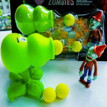 Plants Vs Zombies Peashooter Figura Pvc Animecun