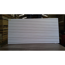 Panel Ranurado Blanco Exhibipanel Blanco 1.22 X 2.44 M.