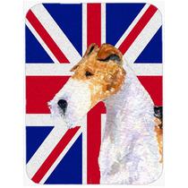Fox Terrier Con Unión Jack Británica Inglés Cristal De La