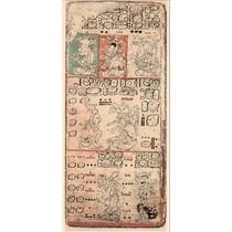 Lienzo Tela Códice Dresden Maya Siglo 12 90 X 42 Arqueologia