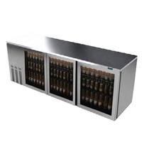 Asber Abbc-94-sg Refrigerador Contrabarra 3 Puertas Cristal