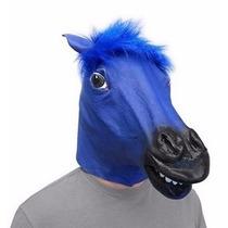 Mascara Cabeza De Caballo Azul Original Unitalla Fiesta