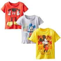Mickey Mouse Muchachos Del Niño Assorted T 3-pack Disney Lit