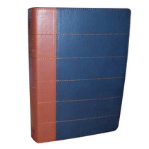 Biblia Thompson Edición Especial Piel Italiana Azul Cafe