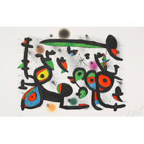 Lienzo En Cuadro Grande, Joan Miro: 63 X 100 Cm