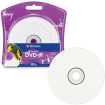 Dvd+r Verbatim 4.7gb 16x Imprimible Blanco Torre C/10 96940