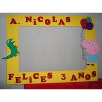 Marco Gigante Para Fiesta Cuadro Decorativo Peppa Jorge Pig